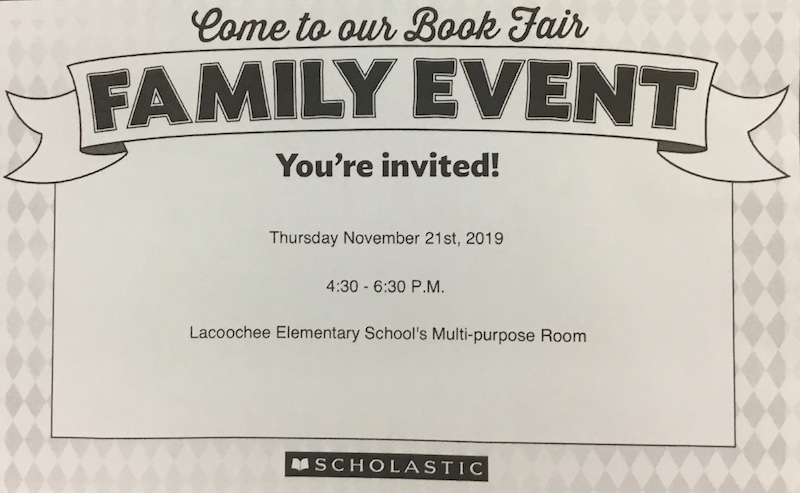 Come to our Book Fair Family Event!!!