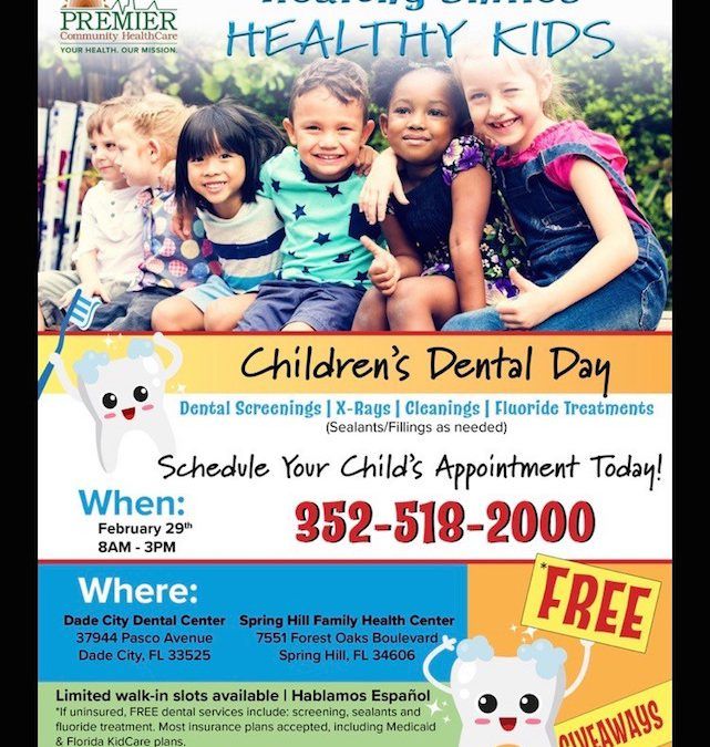 Free Children's Dental Day February 29th 8AM – 3PM