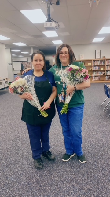 Congratulations to Ms. Maria Alverto for SRP of the Year and Ms. Nancy Montoya for Teacher of the Year!